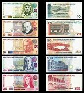 banknotes peru money drawing