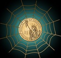 dollar currency money cobweb clipart