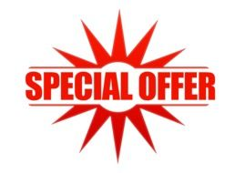 announcement of special offer sale on white background
