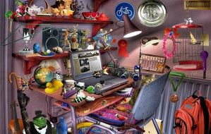 Clipart of hidden object game