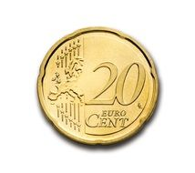 cent 20 euro coin currency europe
