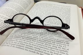 glasses for reading a book