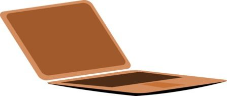 icon of a brown laptop