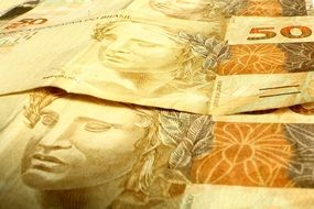 fifty dollars, brazil banknotes background