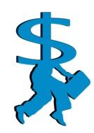 Clipart of dollar sign and man silhouette