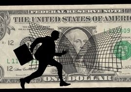 silhouette of a man evading taxes