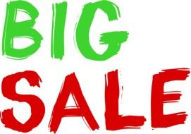 Clipart of big sale sign