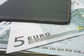 money purse bank note euro leather