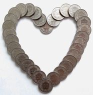 heart money coins