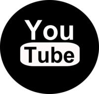 black and white you tube logo