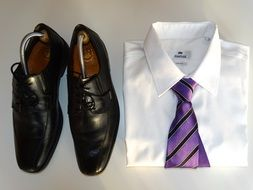 shirt, tie and shoes