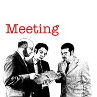 men meeting drawing