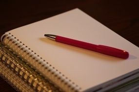 Photo of pen and notebook