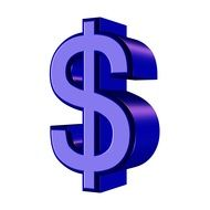 isolated dollar sign