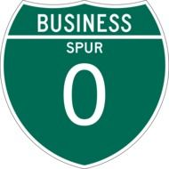 business spur 0 sign drawing