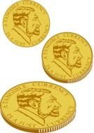 gold coins drawing