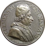 coin with pope Clement XI