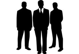 Clipart of three business men