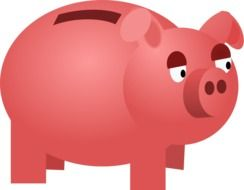 savings box money pig pink animal