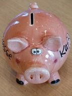 funny pink piggy bank