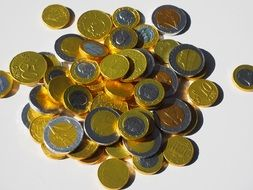 chocolate taler coins