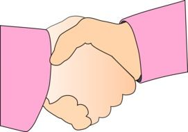 agreement hands pink drawing