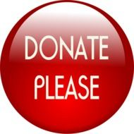 click button of donating money in the internet web