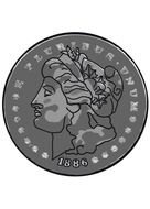 morgan dollar clip art coin money
