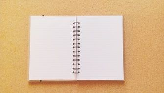 notebook notes diary to write card