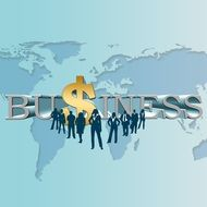 Clipart of business sign and dollar Symbol