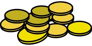 cash coins drawing
