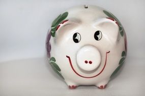 front view of a piggy bank