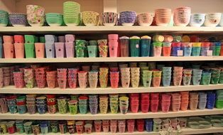 Big collection of the coffee mugs
