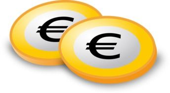 euro coins currency money credit