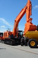 orange excavator equipment