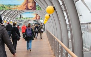 glass tunnel in Leipzig