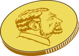 gold coin drawing
