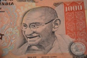 rupee with the image of Mahatma Gandhi