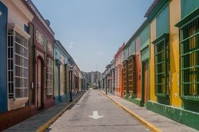 colorful houses in Venezuela