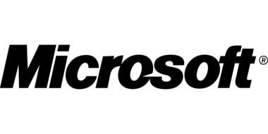 black microsoft logo on a white background