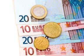 European banknotes and coins
