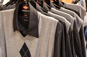 men's clothes in the shop