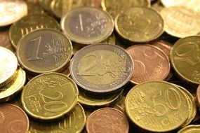 money coins euro currency