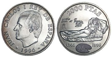 spanish coins with the image of juan carlos l