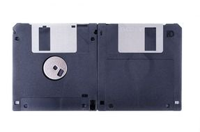 isolated floppy disks