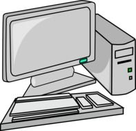 graphic image of gray computer equipment