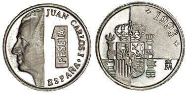 one peseta coin