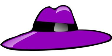 painted bright purple hat