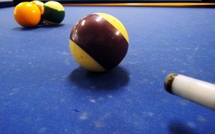 billiards blue purple ball