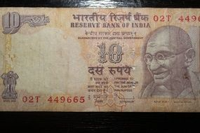 banknote of the Indian rupee